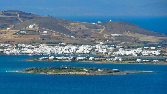 Bild vom Blick auf Paros und Antiparos