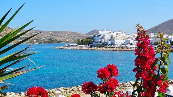 Bild vom Blick auf Parikia auf Paros