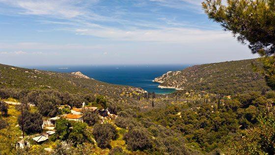 Bild einer tollen Bucht auf Poros