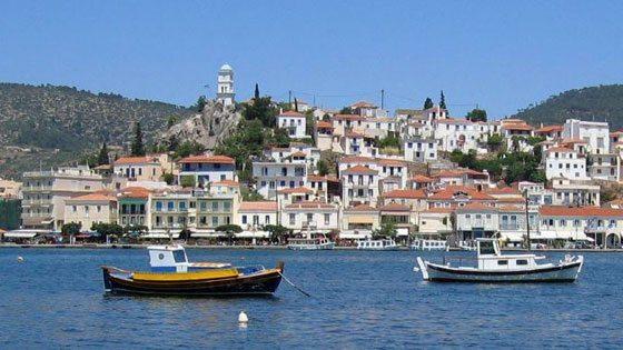 Bild von der Hafenpromeande von Poros
