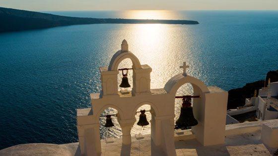 Bild von Glocken auf Santorini