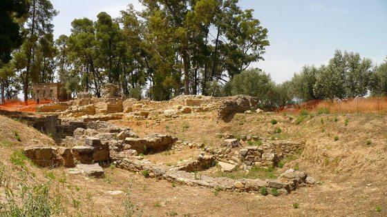 Bild von Ruinen im antiken Sparta