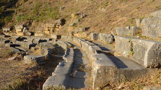 Bild von Theatersitzplätzen im antiken Sparta