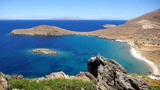 Bild vom Delfini Beach auf Syros