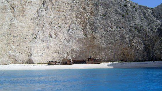 Bild vom Schmugglerboot auf Zakynthos
