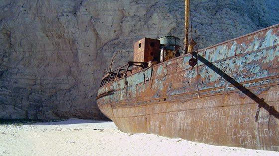 Bild der Nahaufnahme des Schiffes in der Schmugglerbucht