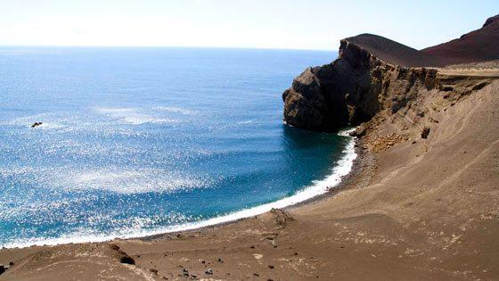 Bild vom Strand auf Faial
