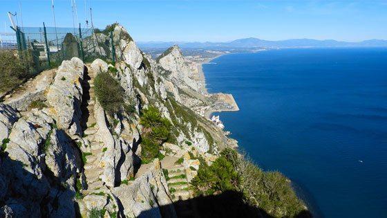 Bild der Medditerranean Steps auf Gibraltar