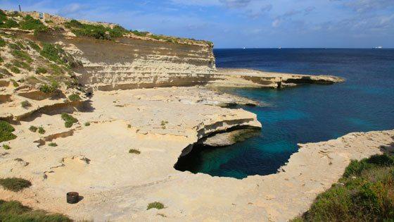 Bild vom St. Peters Pool auf Malta