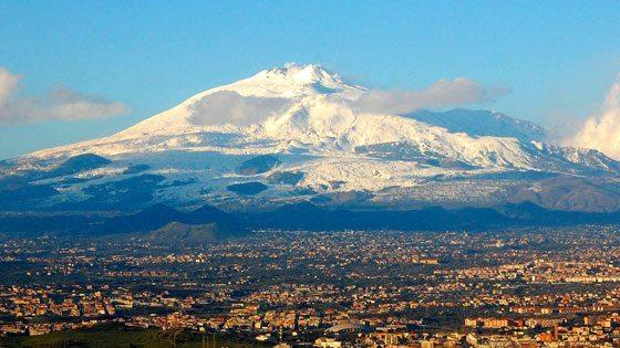Bild vom Aetna auf Sizilien