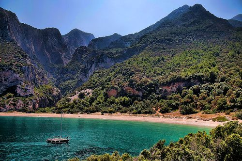 Bild der Bucht Megalo Seitani auf Samos